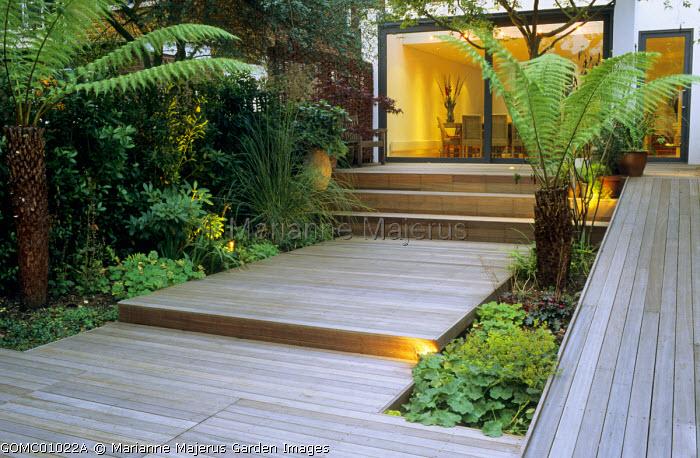 Stepped decking, ramp