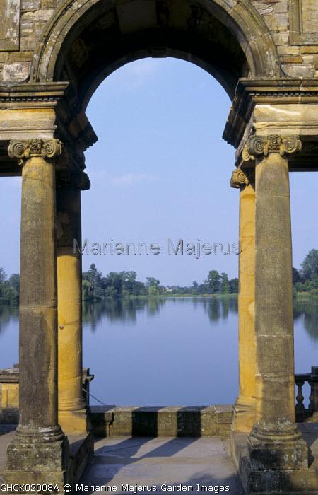 Stone arch, lake