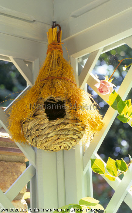 Reed bird basket