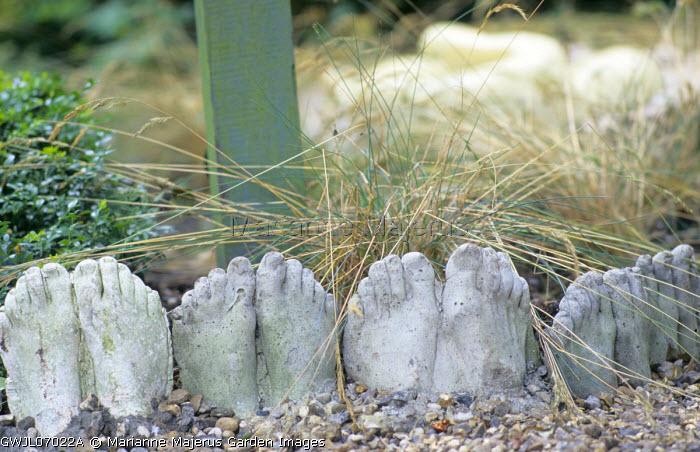 Cast feet, path edging