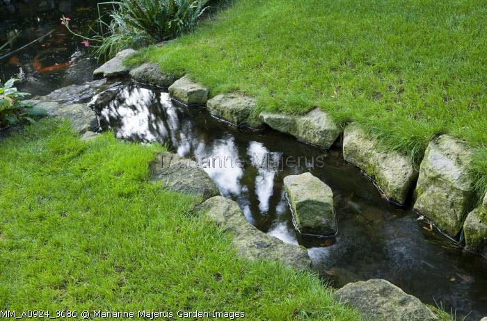 Stone edged stream