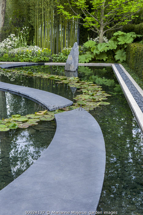 Burlington Slate Path, Water Lily Band, Japanese Zen Garden