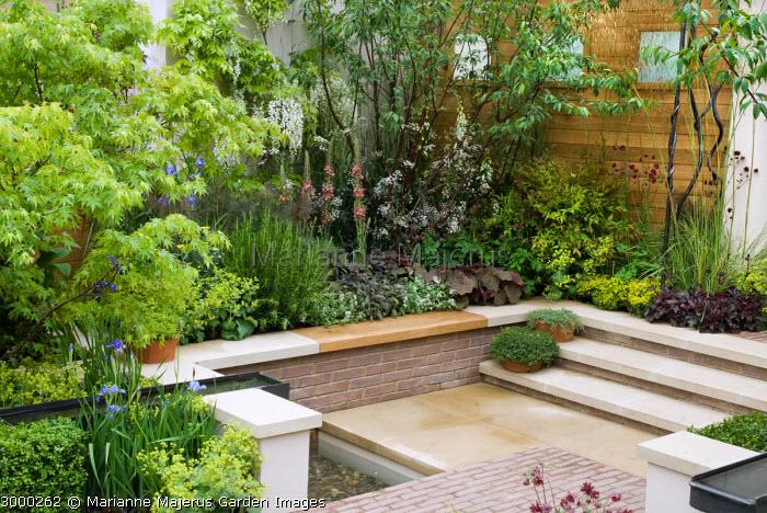 Sunken front garden