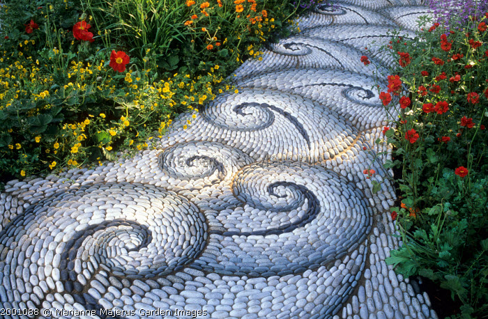 Mosaic path by Maggy Howarth