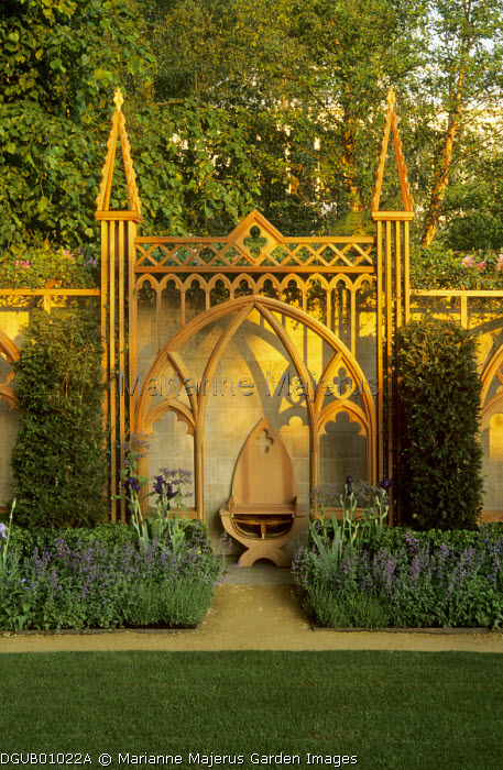 Gothic arbour and chair