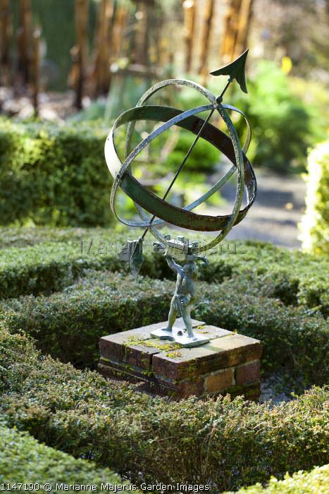 Armillary Sphere In Knot Garden