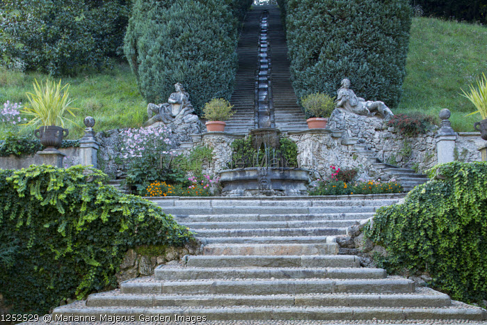 Water staircase, rill, steps
