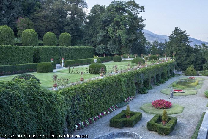 Terraces in formal Italian garden