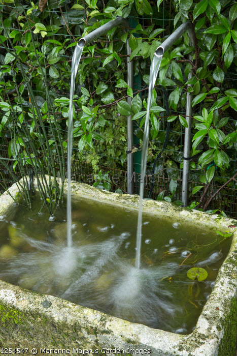 Water spouts, old trough