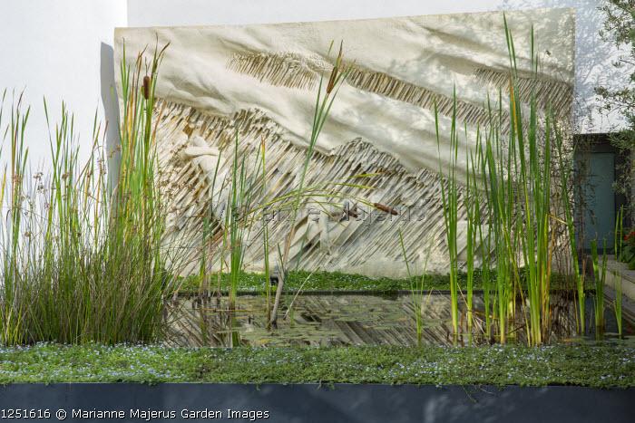 "Raised pond, ""La Tempesta"" (1981) wall art by Francesco Somaini"