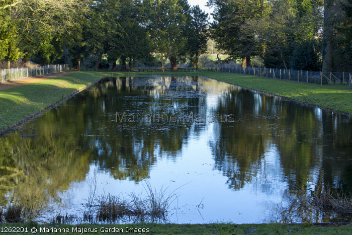 Formal rectangular pond