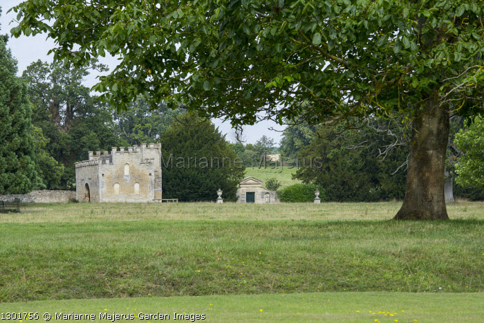 Gatehouse in parkland at Rousham House