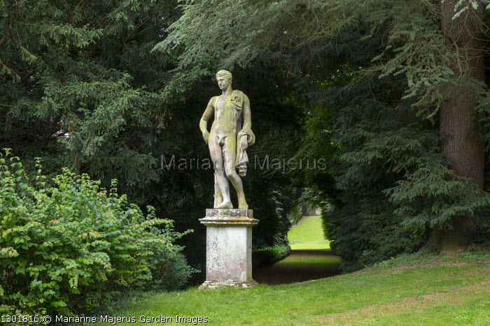 Statue of Antinous on plinth