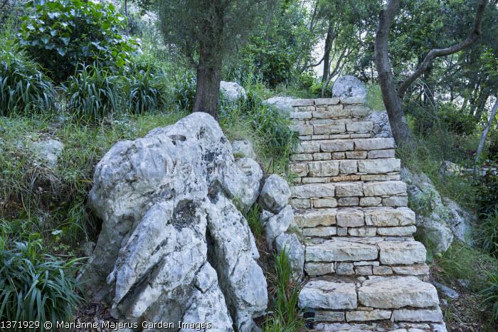 Stone steps, rock
