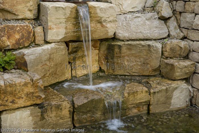 Stone wall waterfall