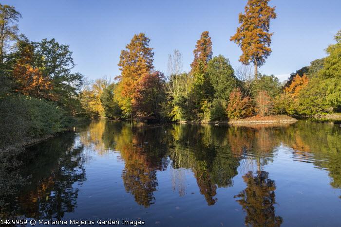 View across lake, reflections