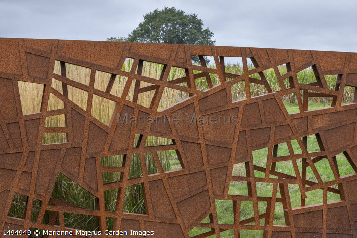 Cor-Ten steel fence