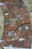 Mosaic of terracotta and ceramic fragments