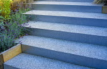 Steps made of crushed CD resin, lavender
