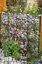Stone filled gabion
