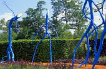 Blue branch sculptures