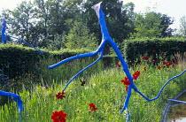 Blue branch sculpture