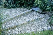 Steps, gravel, cobble treads