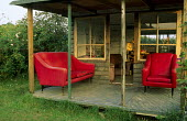 Red chairs, verandah