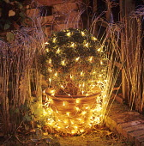 Box ball, fairy light netting, Christmas decoration