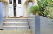 Roof terrace, galvanized zinc containers