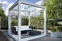 Contemporary cube summerhouse