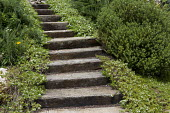 Timber and gravel stairs