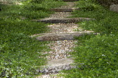 Stepped timber and gravel path