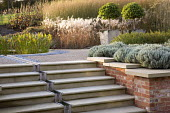 Water rill down steps