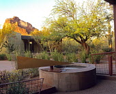 Water feature in Paradise Valley Garden designed by Steve Martino