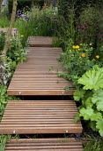 Floating timber path