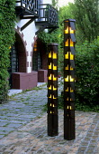 Tall lanterns at Albergo Quattro Fontane
