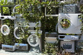 Recycled household white goods, microwaves and washing machines