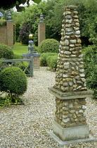 Flint stone obelisk