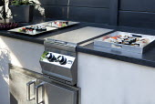 Outdoor kitchen and grill, sushi