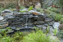 Slate stone waterfall