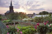 Kitchen garden at sunset, church, GMG Award 2011