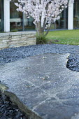 Bubbling fountains in stone