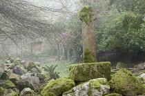 Stone monument, moss