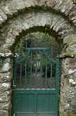 Gate in stone archway