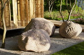Carved stone sculptures by Peter Randall-Page