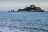 View across sea to St. Michael's Mount