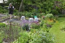 Val Bourne in her kitchen garden