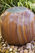 Bubbling stone spherical water feature