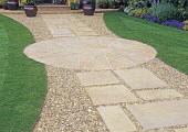 Garden path with slabs and gravel